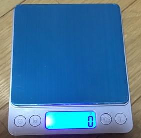 デジタル測り3キロまで1グラム表示で楽天1000円レビュー4